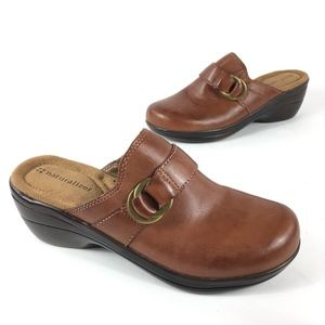 Naturalizer Brown Leather Clogs Size 6 M